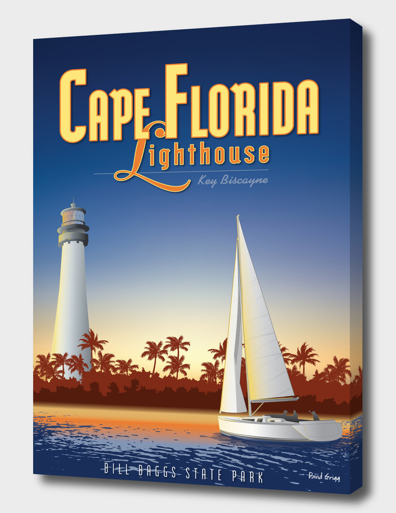 Cape Florida Travel Poster