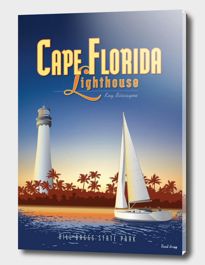 Cape Florida Travel Poster