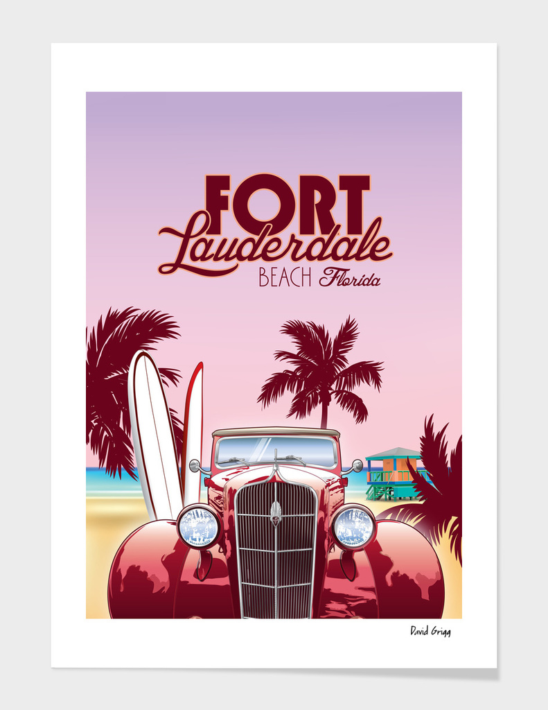 Ft Lauderdale Travel Poster
