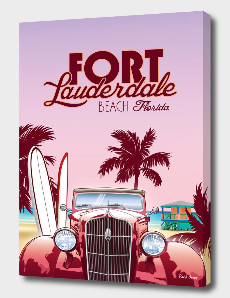 Ft Lauderdale Travel Poster
