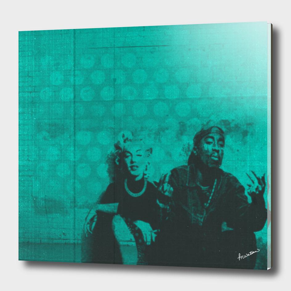 Marilyn y Tupac
