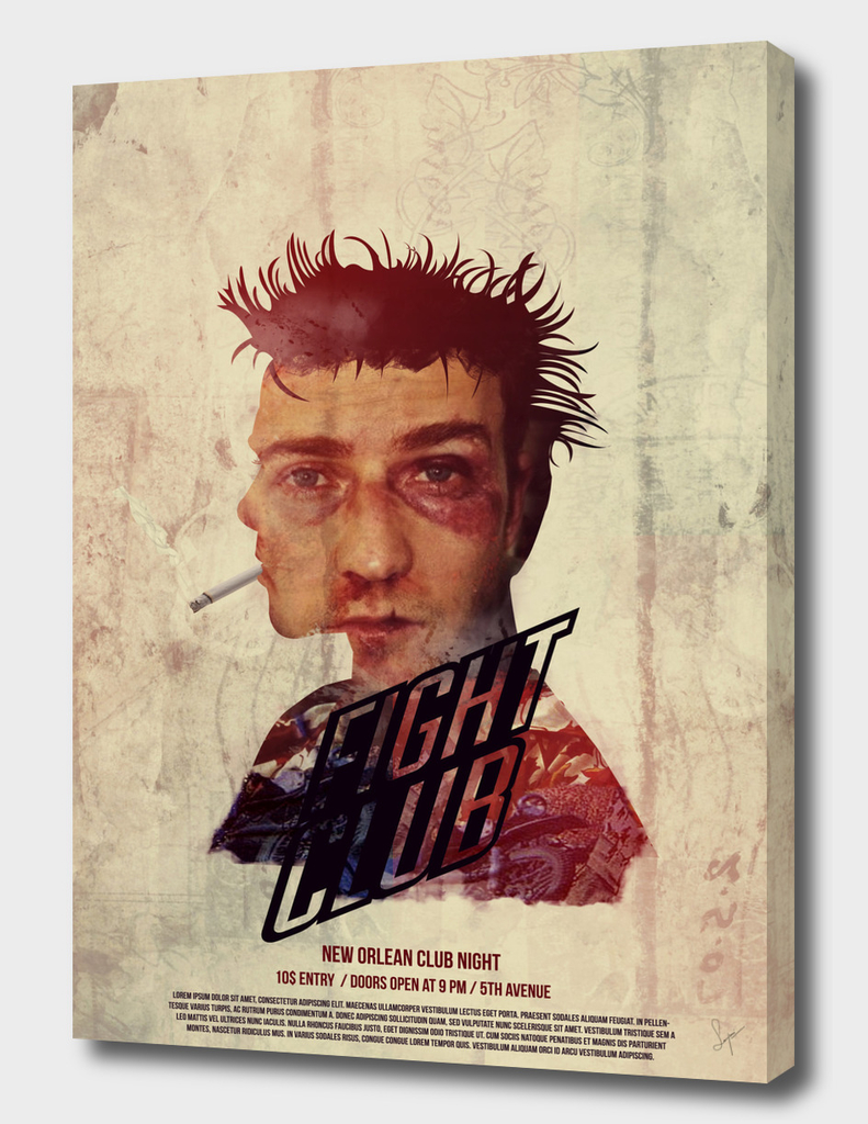 Poster design for Fight club