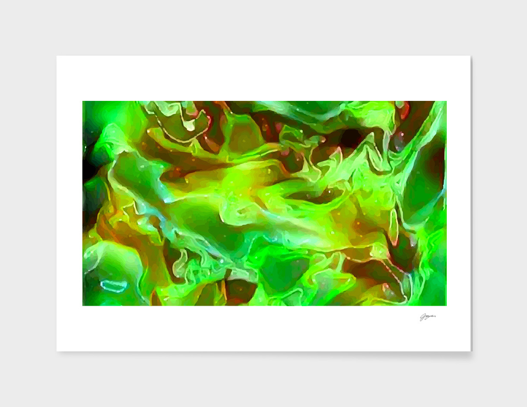 Emerald Field - multicolored abstract swirls