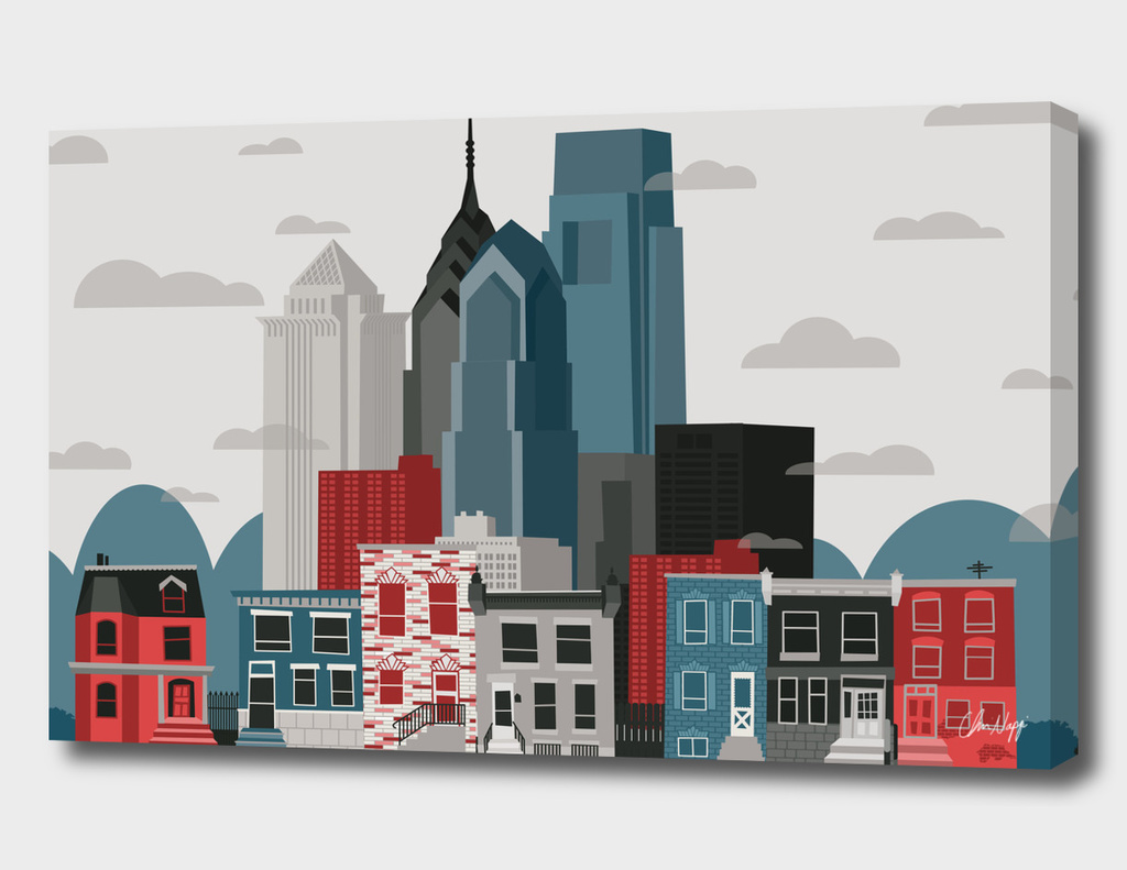 Philadelphia Neighborhood Skyline