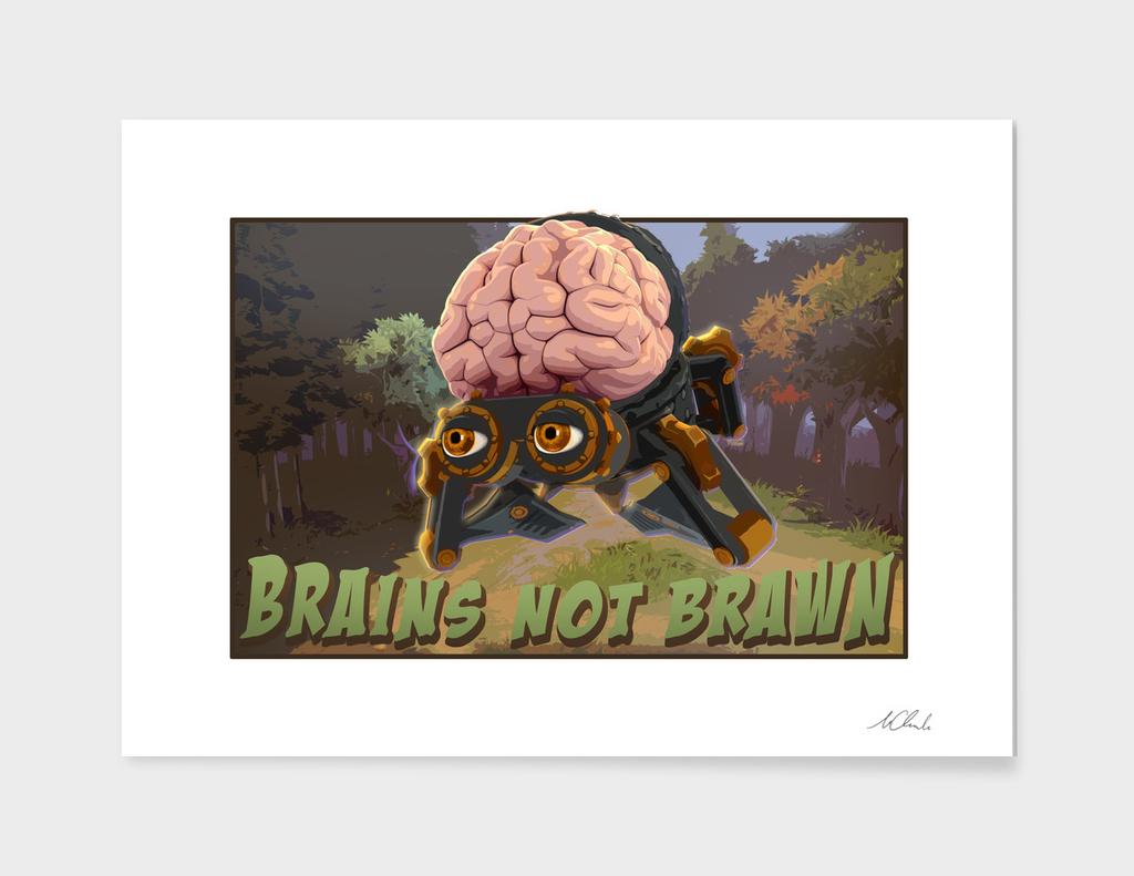 Brains not brawn Art Print, Cancas, Aluminum, Acrylic Glass