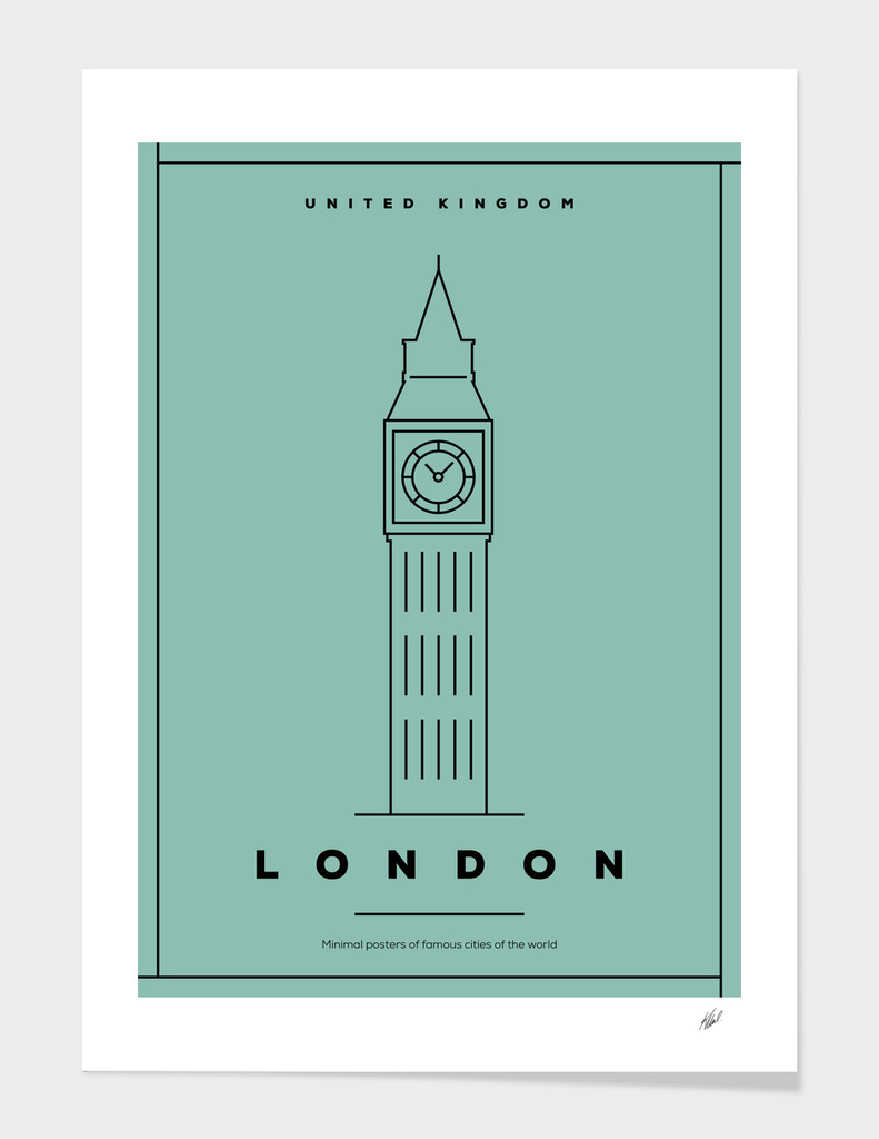 Minimal London City Posters