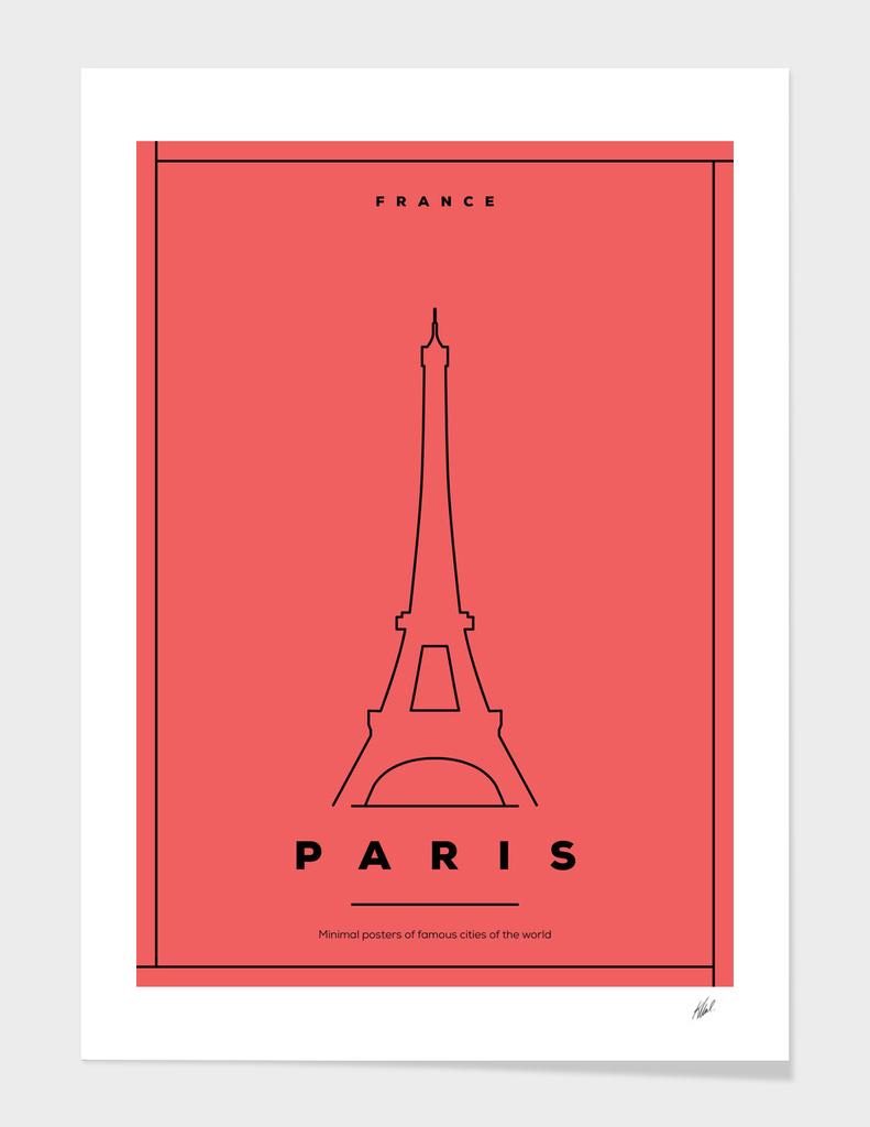 Minimal Paris City Posters