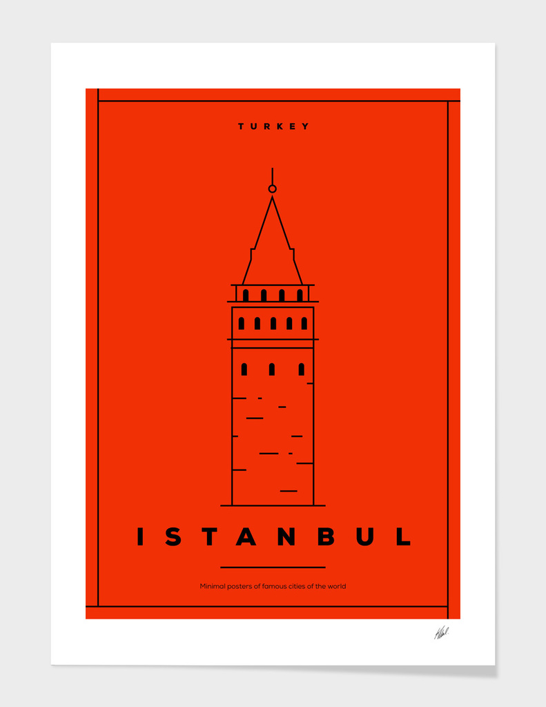 Minimal Istanbul City Posters