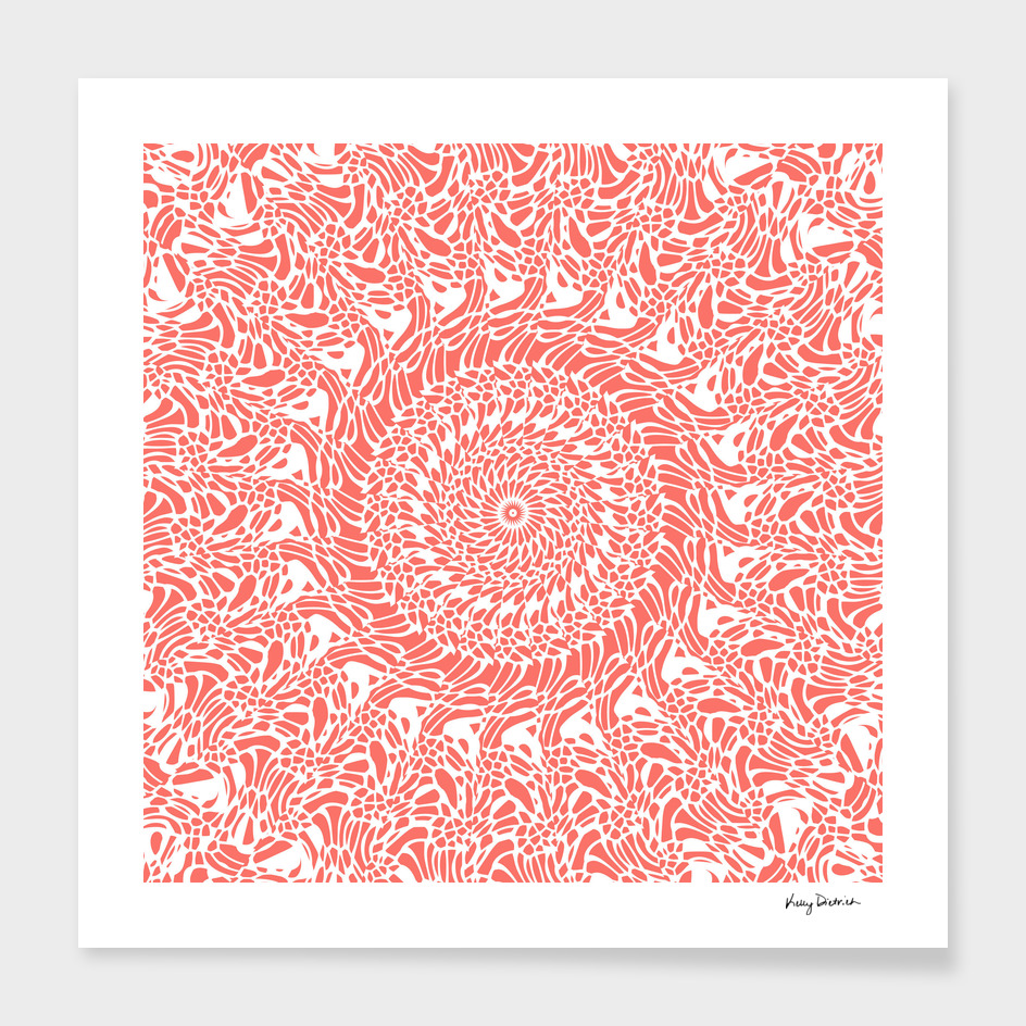 Coral and White Mandala