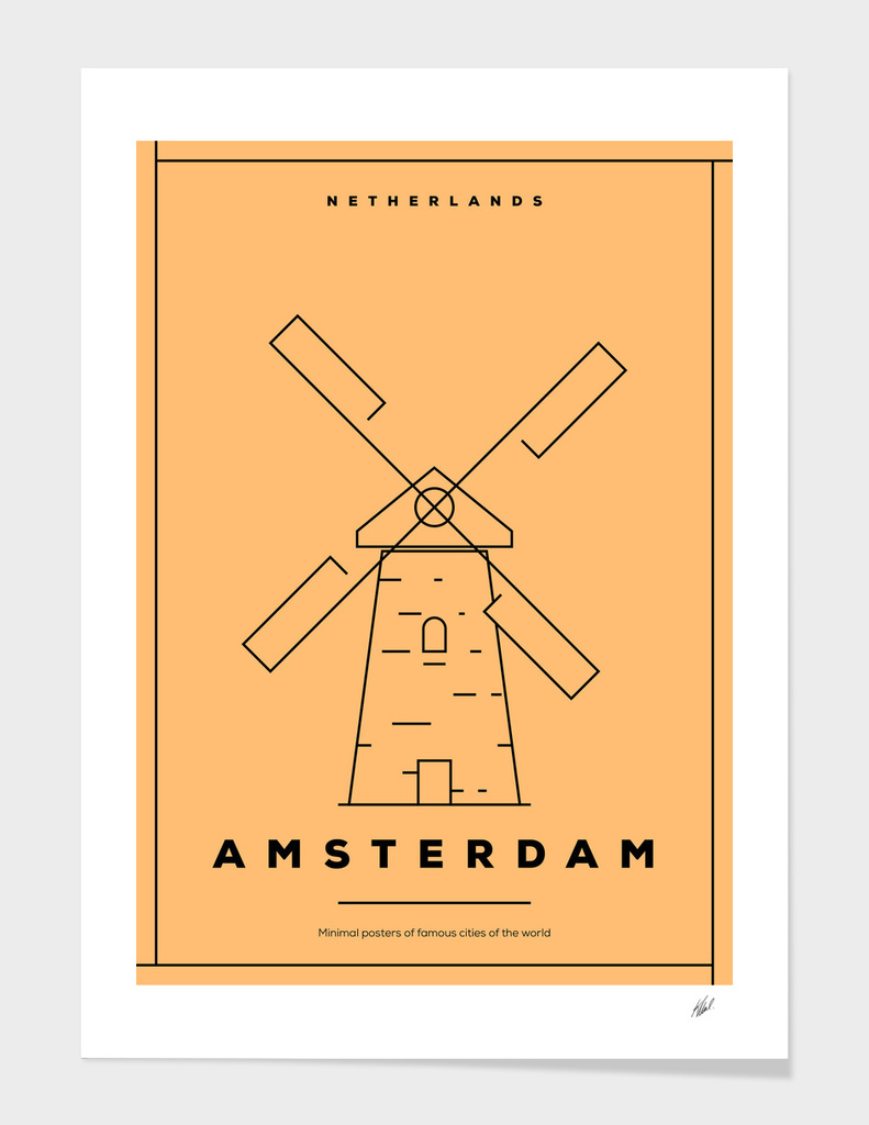 Minimal Amsterdam City Posters