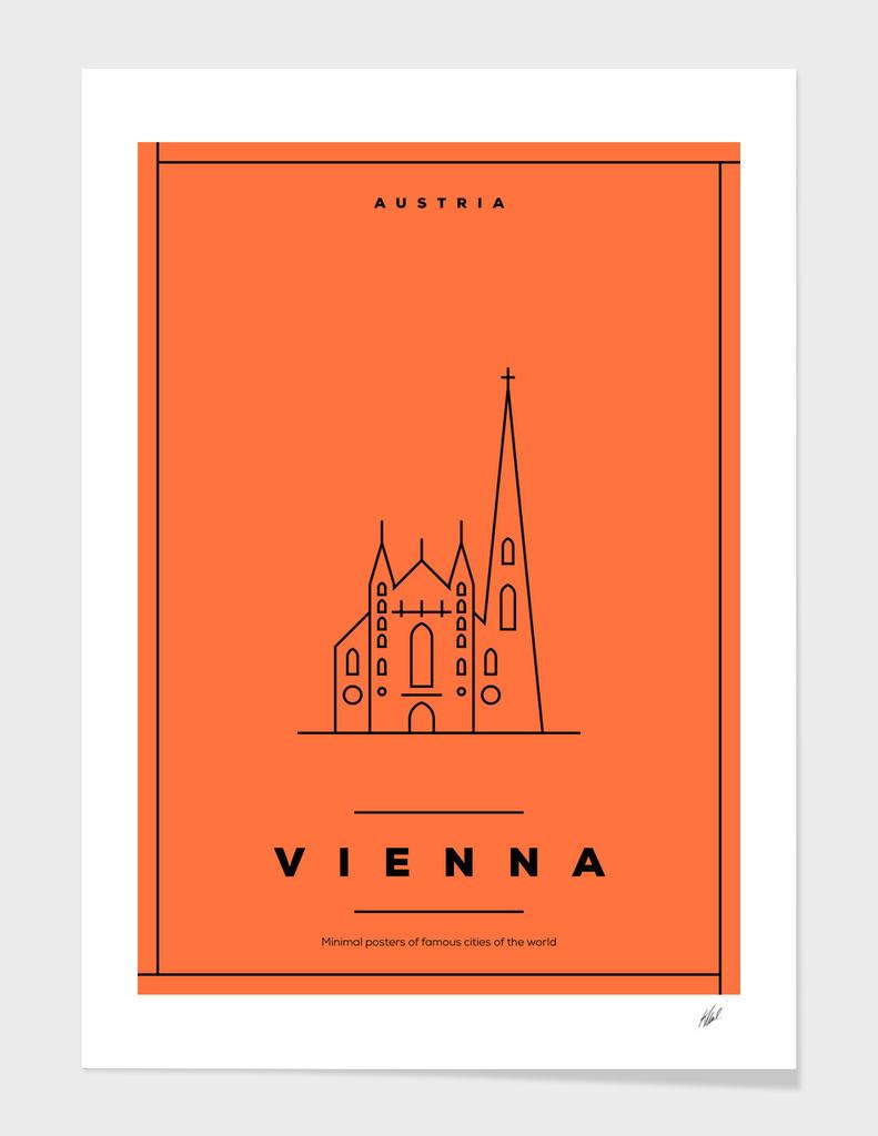 Minimal Vienna City Posters