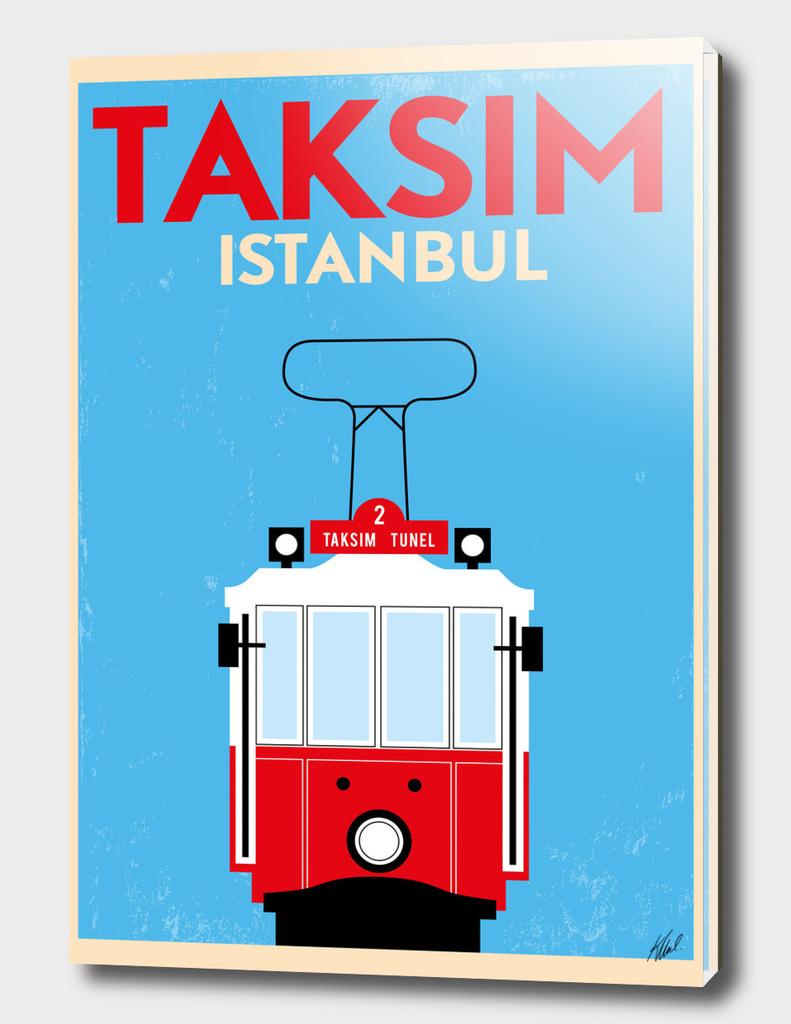 Retro Istanbul Tram Poster