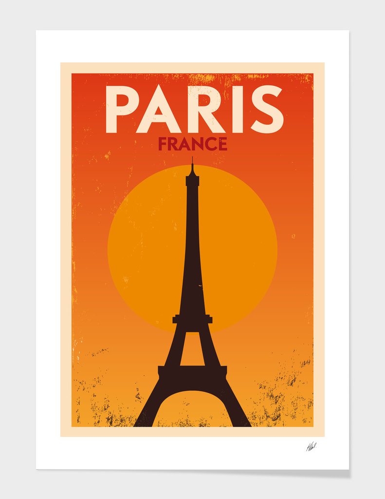 Retro Paris Poster
