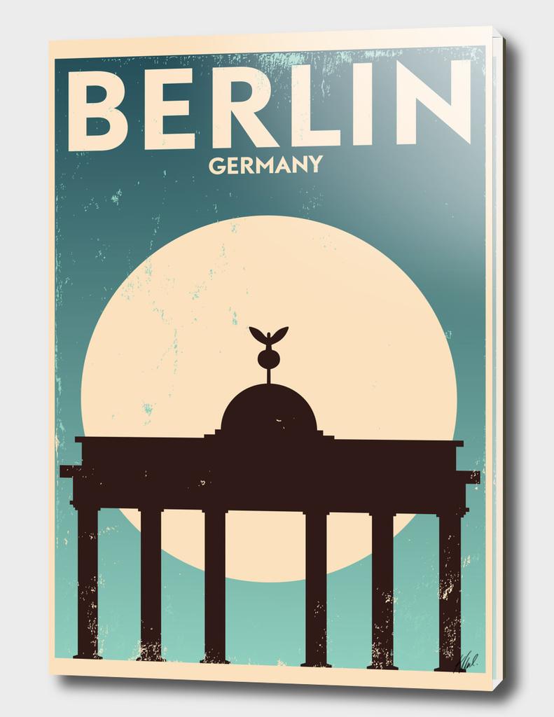 Retro Berlin Poster