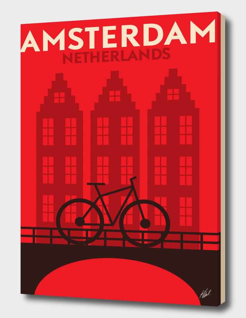 Retro Amsterdam Poster
