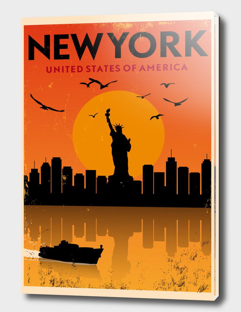 Retro New York Poster