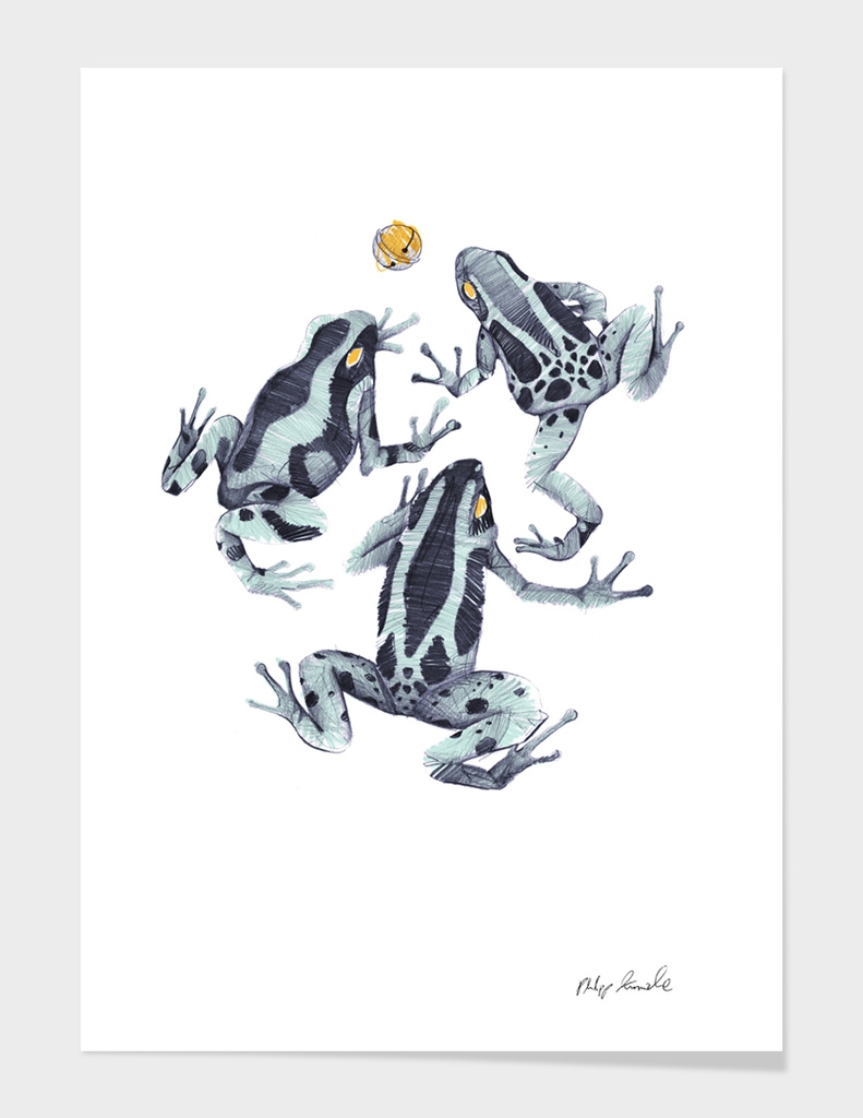 Three Frogs and a Bell