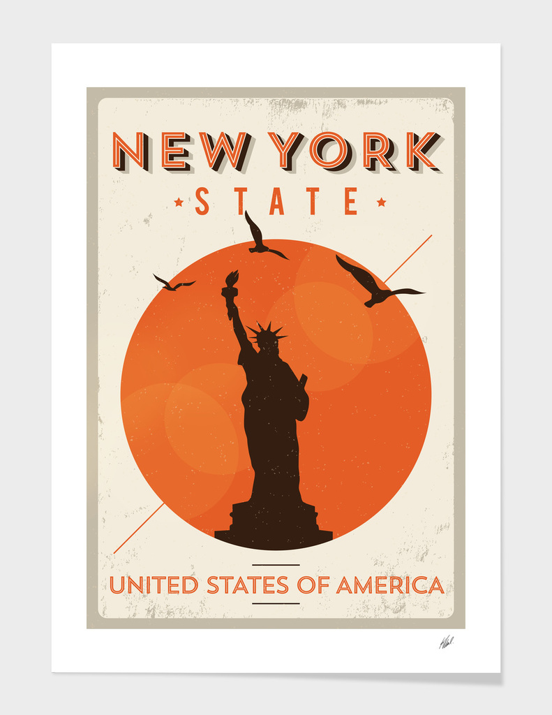 Vintage New York Poster Design