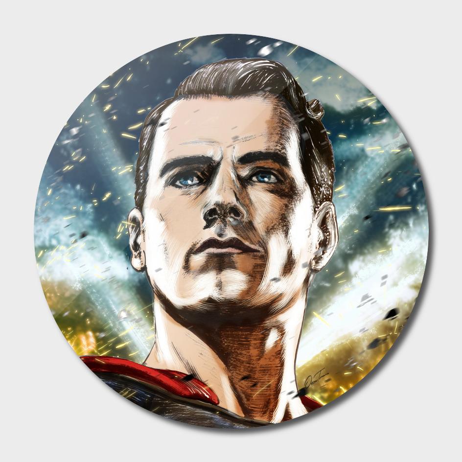 Superman - Ink & Digital Portrait