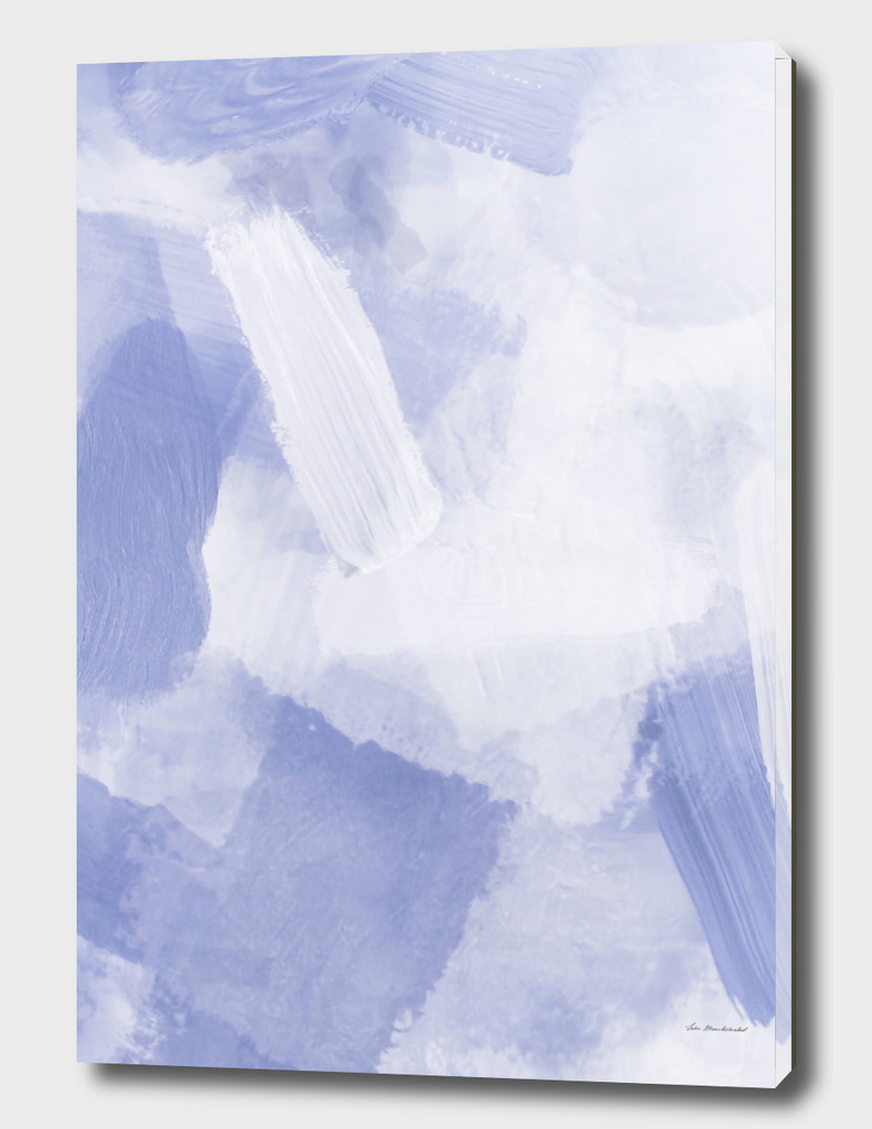 splash brush painting abstract in grey and white