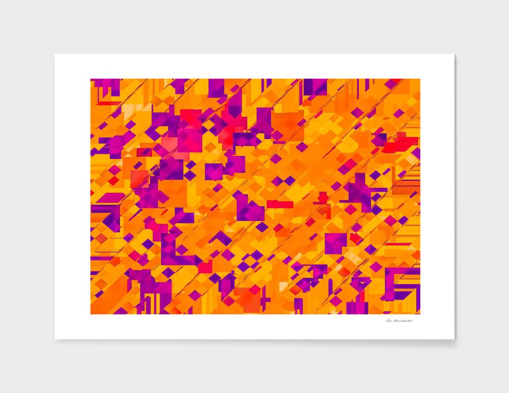 geometric square pixel pattern