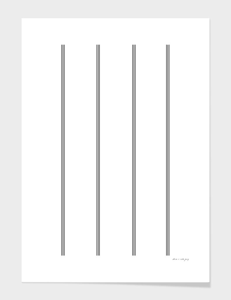 Minimal Black White Stripe Glam #2 #lines #decor #art