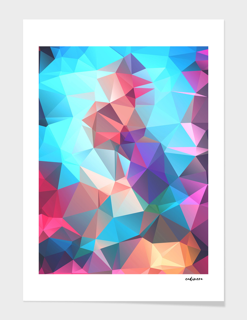 The Key Of Light // Abstract Geometric Polygonal