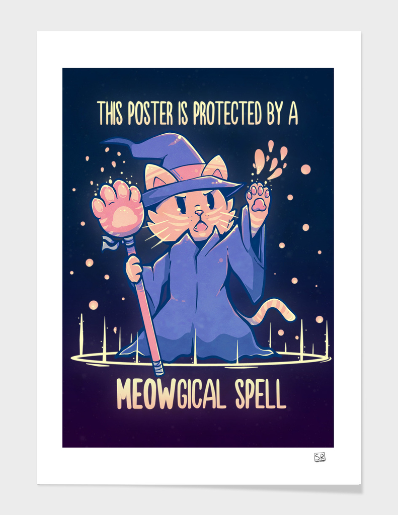 This Poster is Protected by a Meowgical Spell