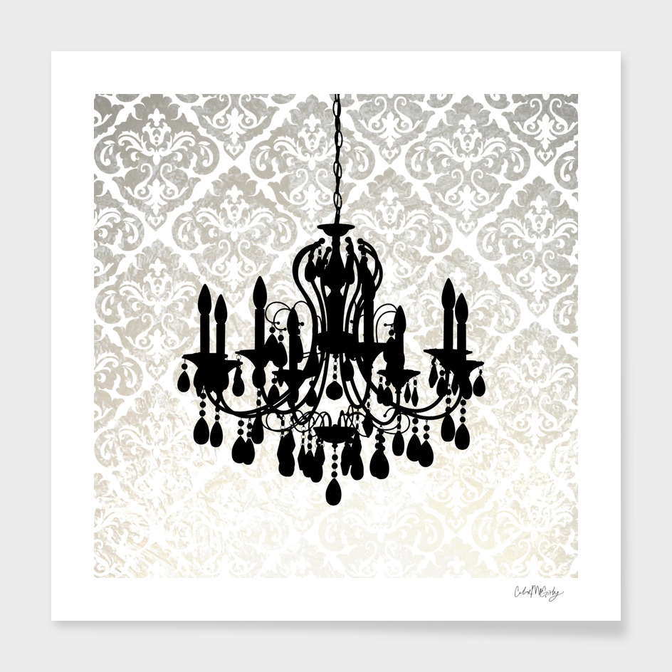 Chandelier Damask Abstract
