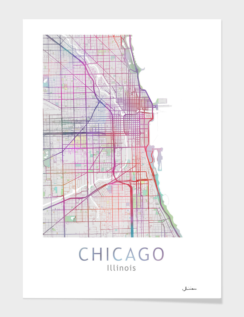 Chicago Map Color