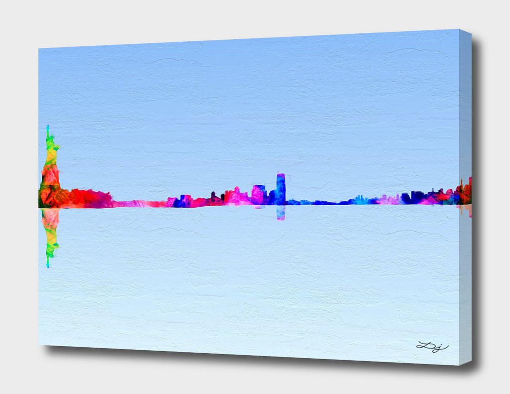 Nyc Skyline Painted