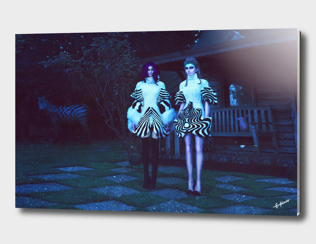 Alice wears dark III