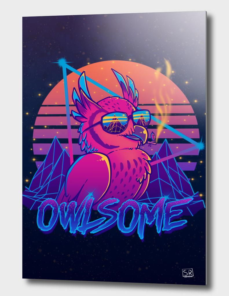 Owlsome - Owl Awesome Bird Retrowave 80s