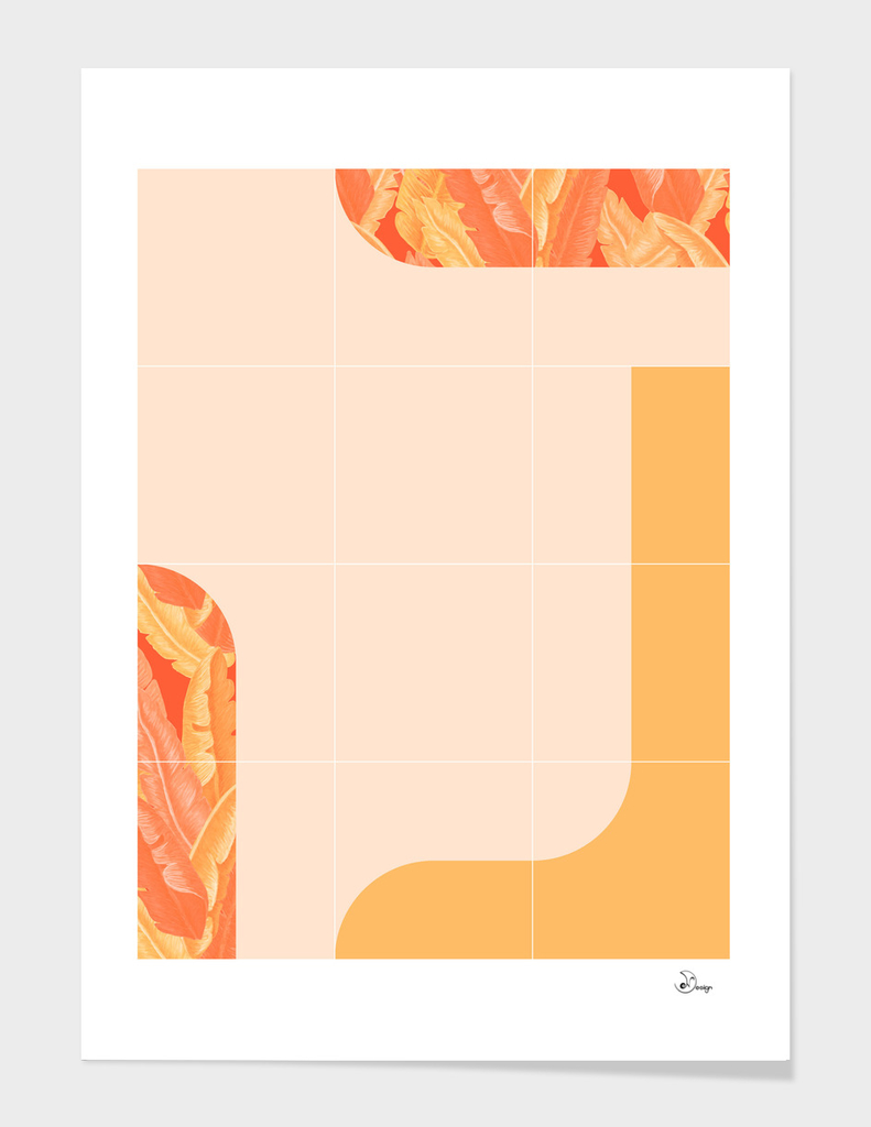 Mid-Century Tropical Orange Mood