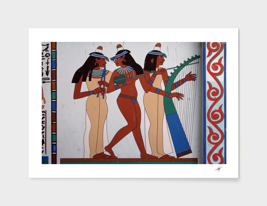 egypt fresco mural decoration
