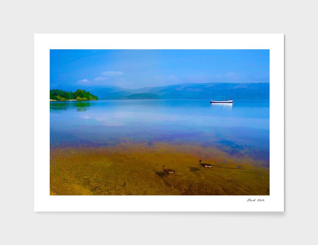 Tranquil Lake Painting of Loch Lomond