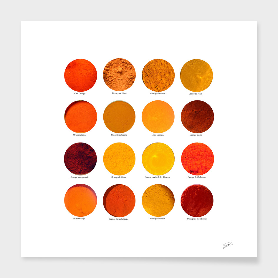 Pigments Orange. Orange pigments