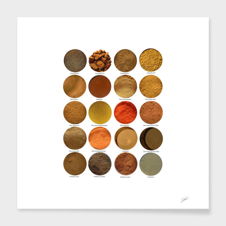 Pigments ocres N°2. Ochres N°2 pigments