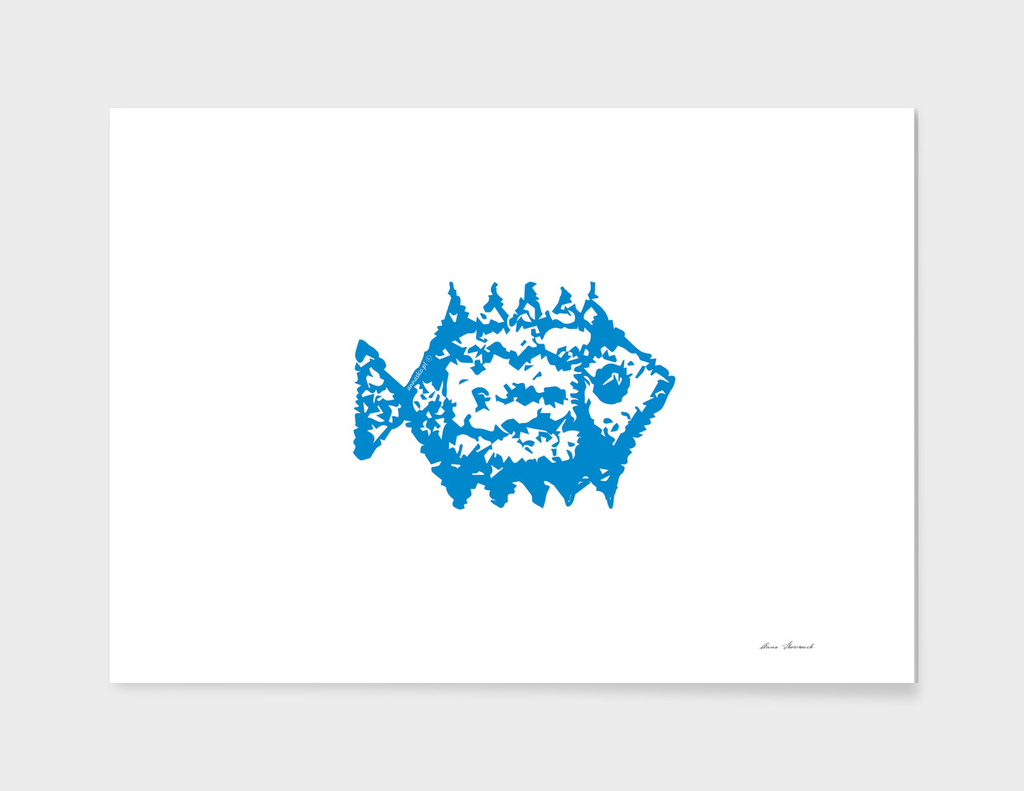 Navy blue fish