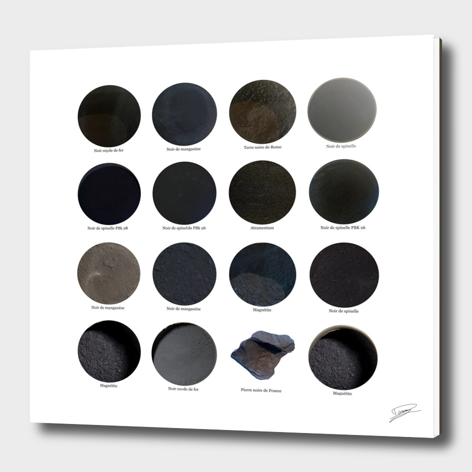 Pigments Noirs. Black pigments