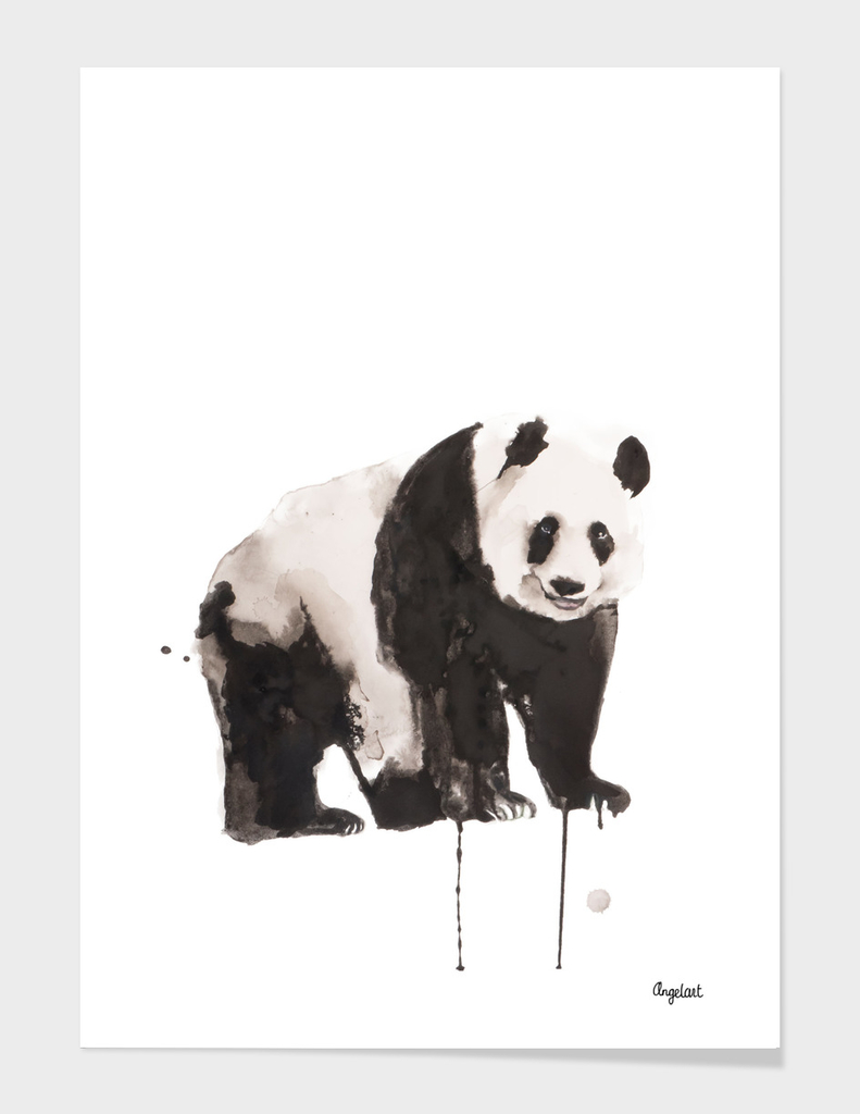 Print of a panda, special animal illustration
