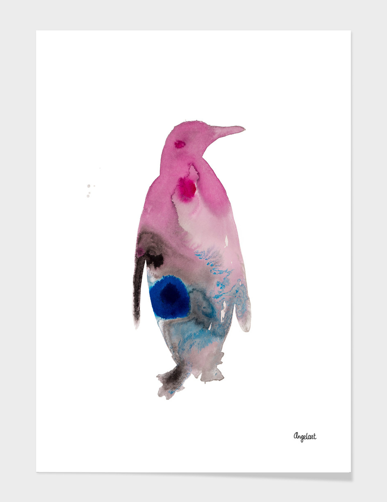 Penguin special bird illustration