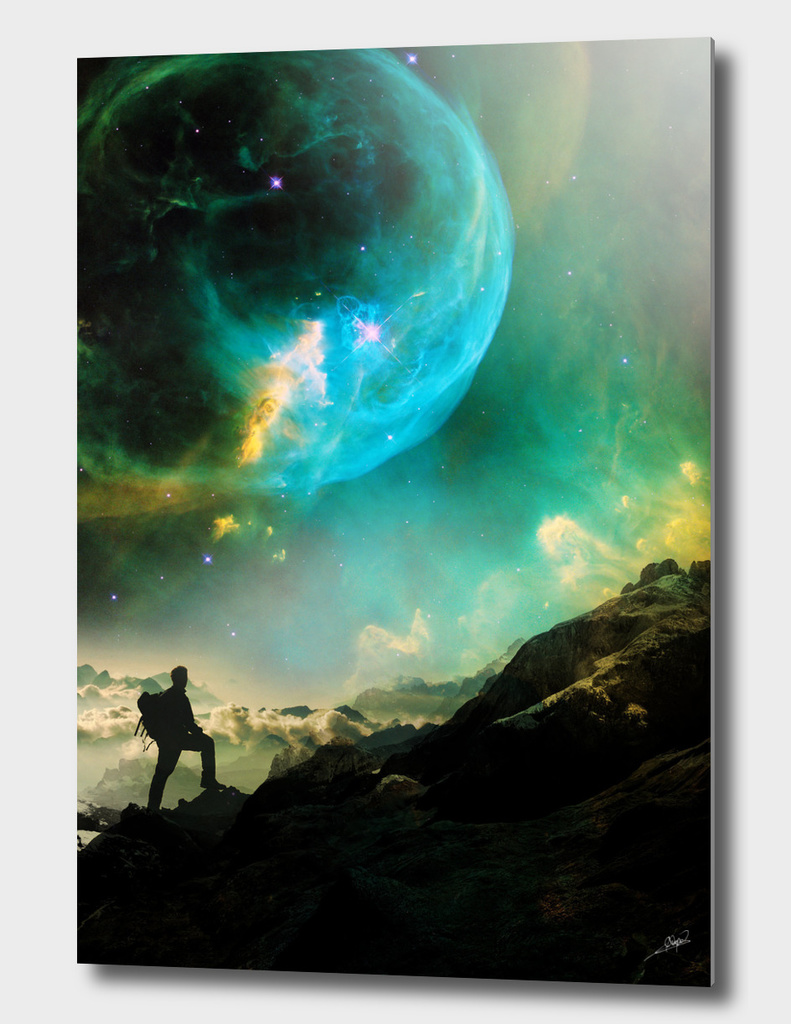 Vibrant Space Hiker