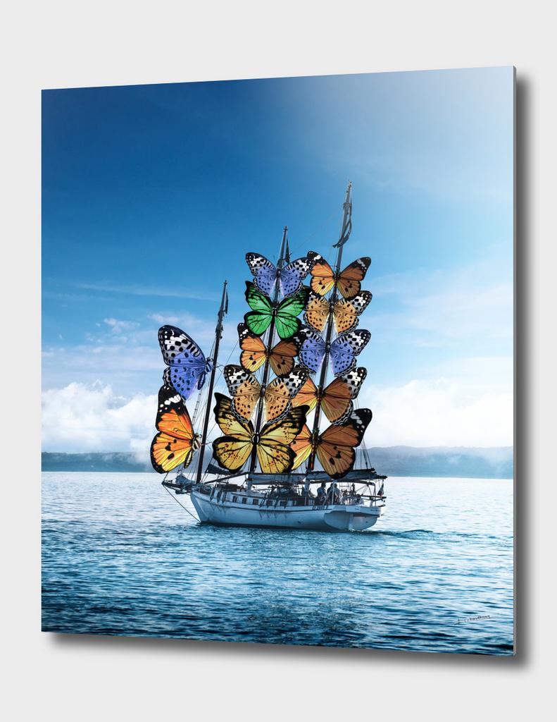 winged ship