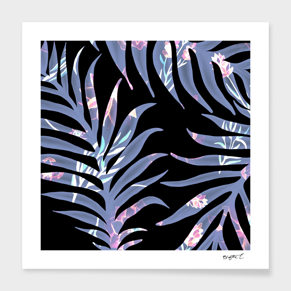 Tropical Water Palm Tree Leaves