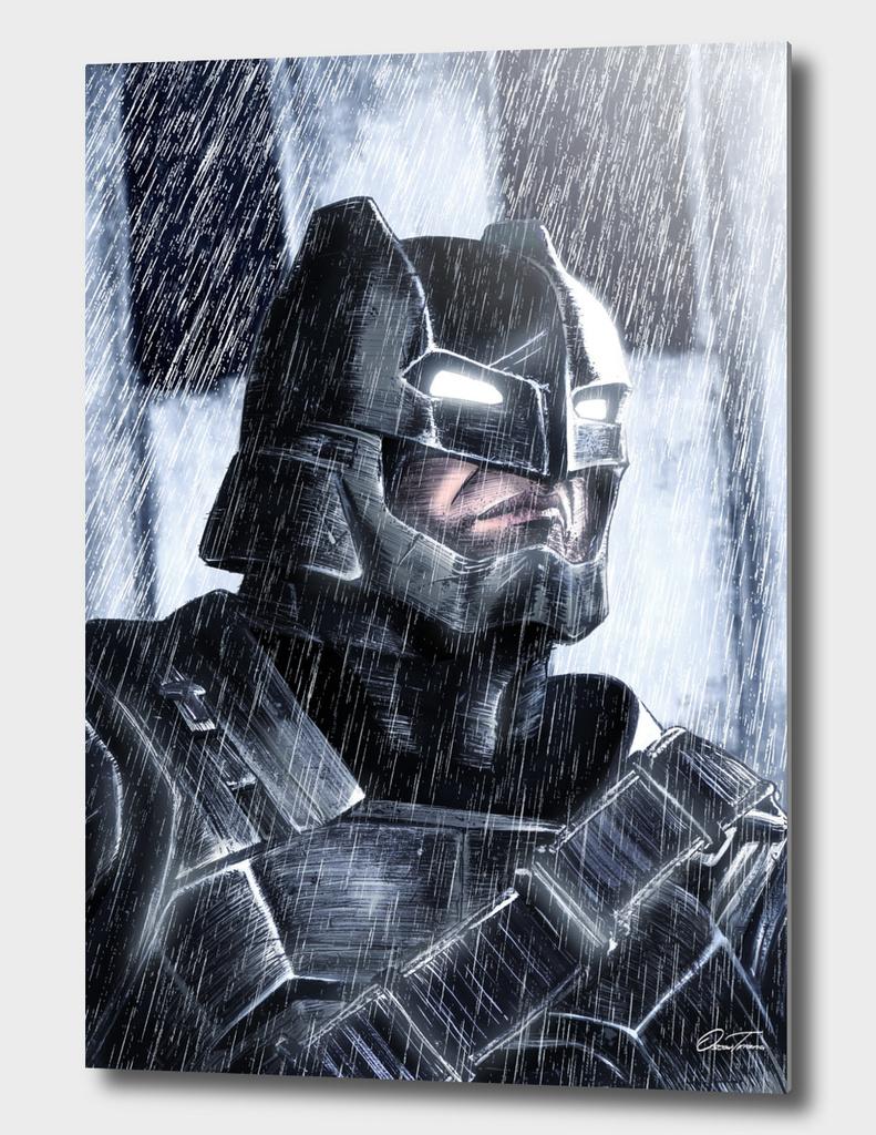 Armored Batman - Ink & Digital Portrait