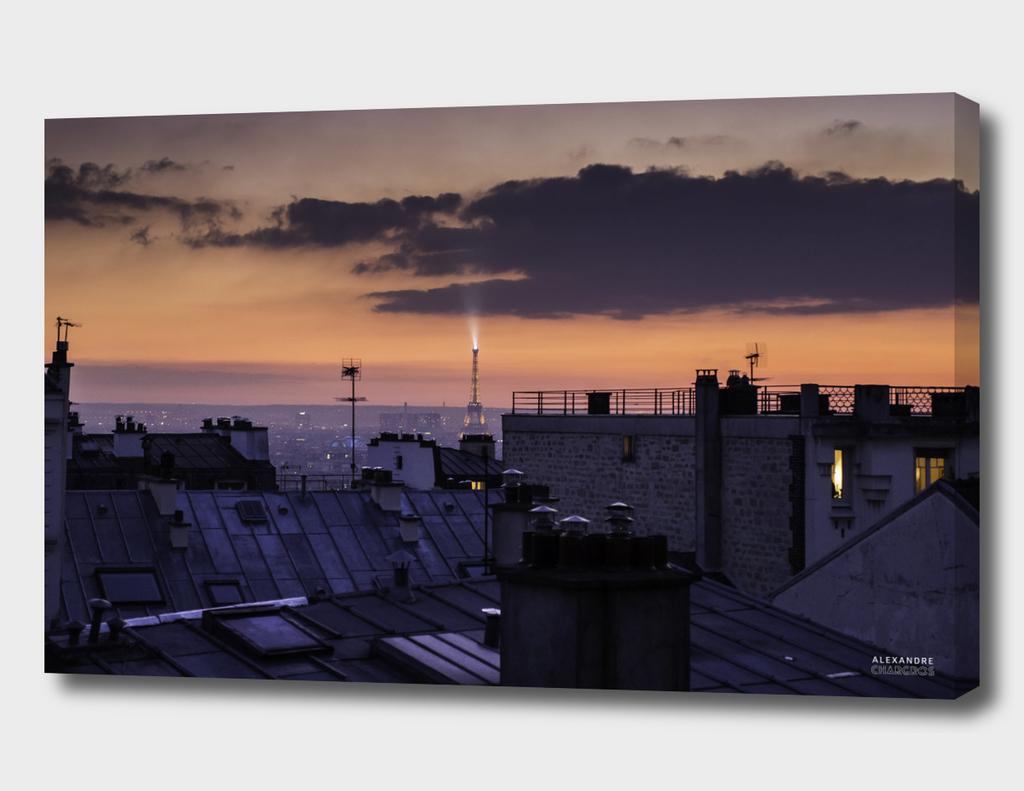 Eiffel Tower Sunset