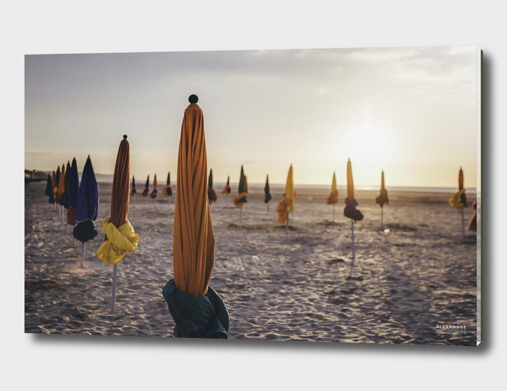 Parasol on Deauville Beach