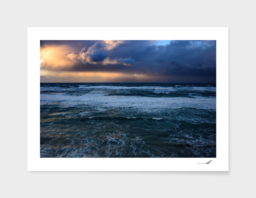 Storm over the Mediterranean
