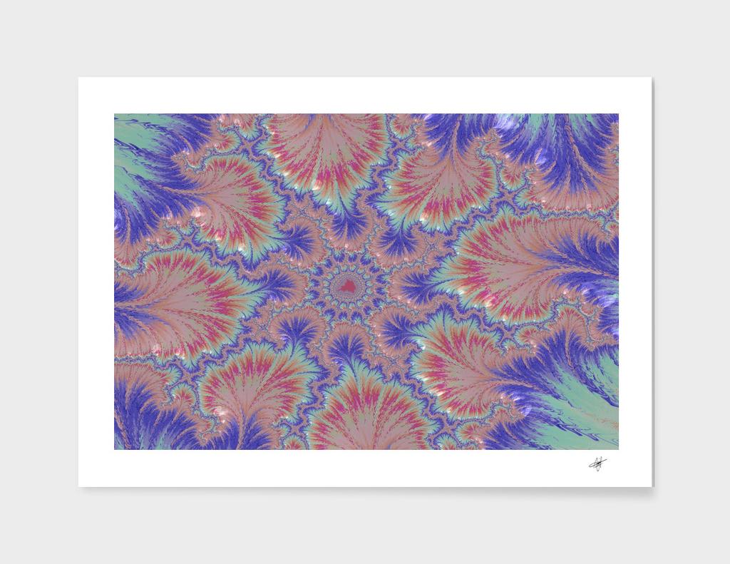purple splat fractal art